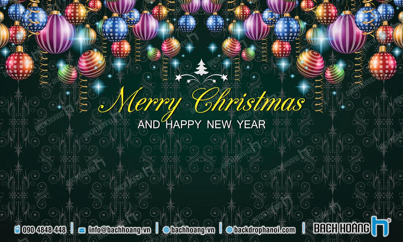 Thiết Kế Backdrop - Phông Noel Giáng Sinh Merry Christmas 83