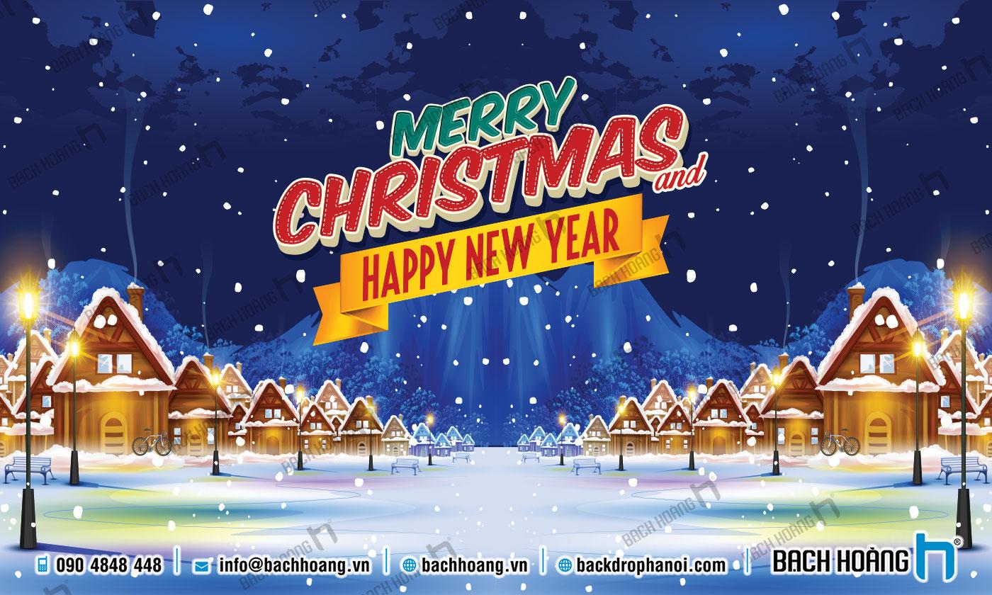 Thiết Kế Backdrop - Phông Noel Giáng Sinh Merry Christmas 84