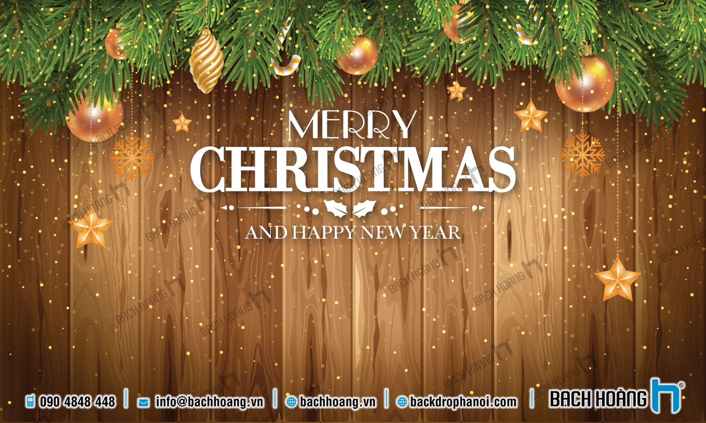 Thiết Kế Backdrop - Phông Noel Giáng Sinh Merry Christmas 85