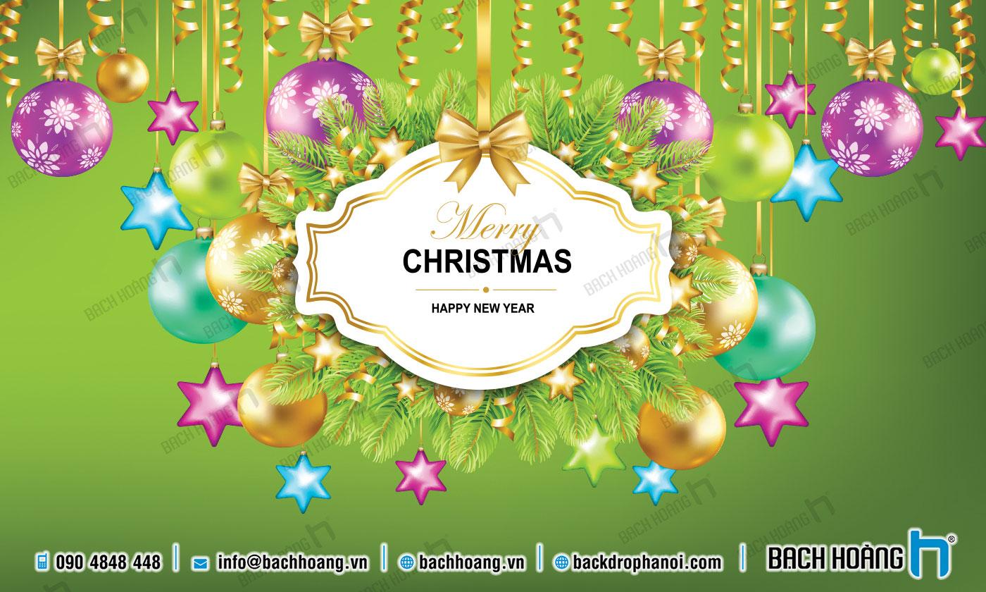 Thiết Kế Backdrop - Phông Noel Giáng Sinh Merry Christmas 86