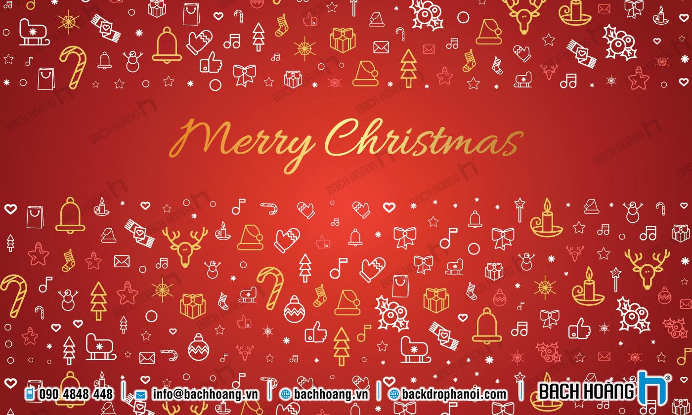 Thiết Kế Backdrop - Phông Noel Giáng Sinh Merry Christmas 87