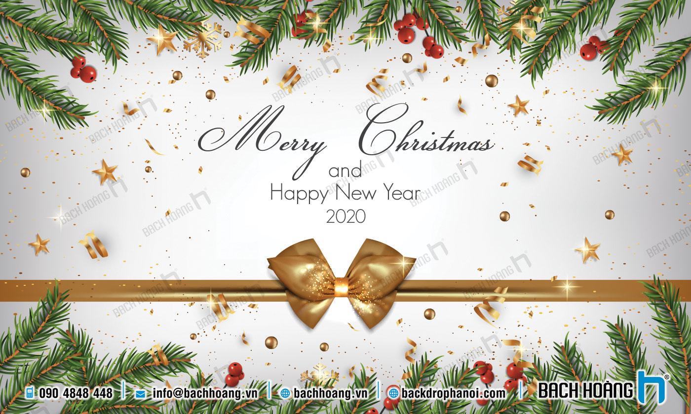 Thiết Kế Backdrop - Phông Noel Giáng Sinh Merry Christmas 88
