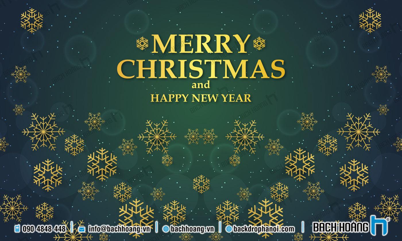 Thiết Kế Backdrop - Phông Noel Giáng Sinh Merry Christmas 89