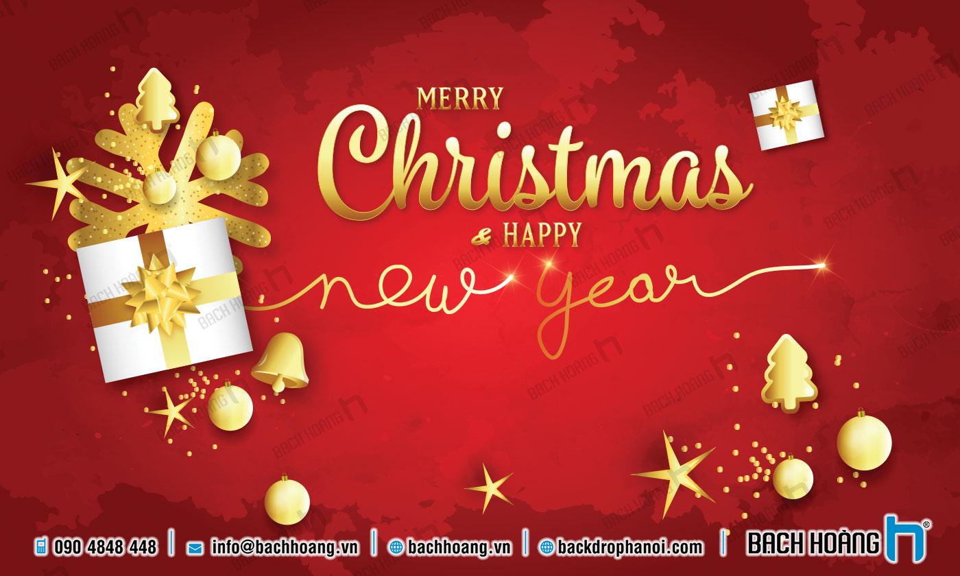 Thiết Kế Backdrop - Phông Noel Giáng Sinh Merry Christmas 90