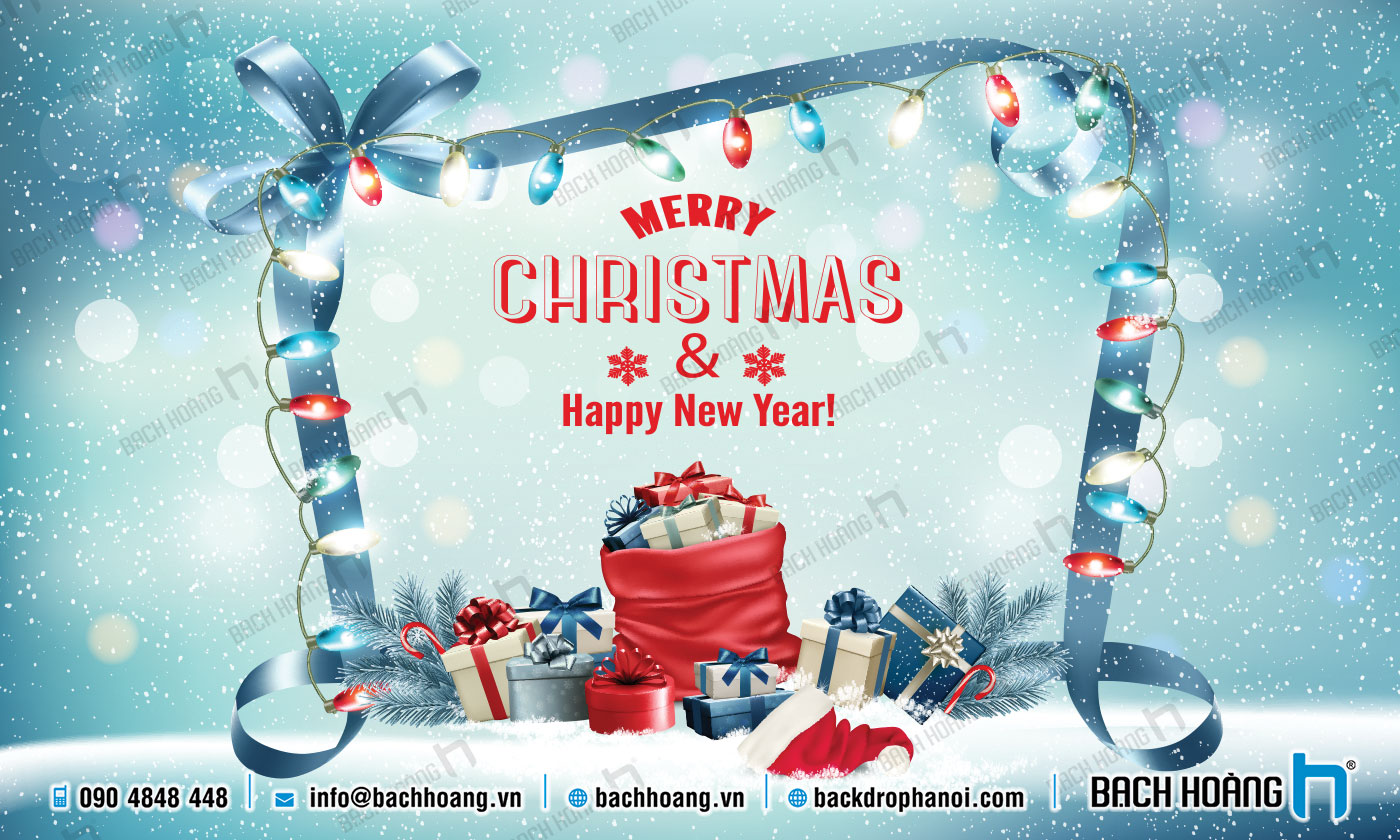 Thiết Kế Backdrop - Phông Noel Giáng Sinh Merry Christmas 91
