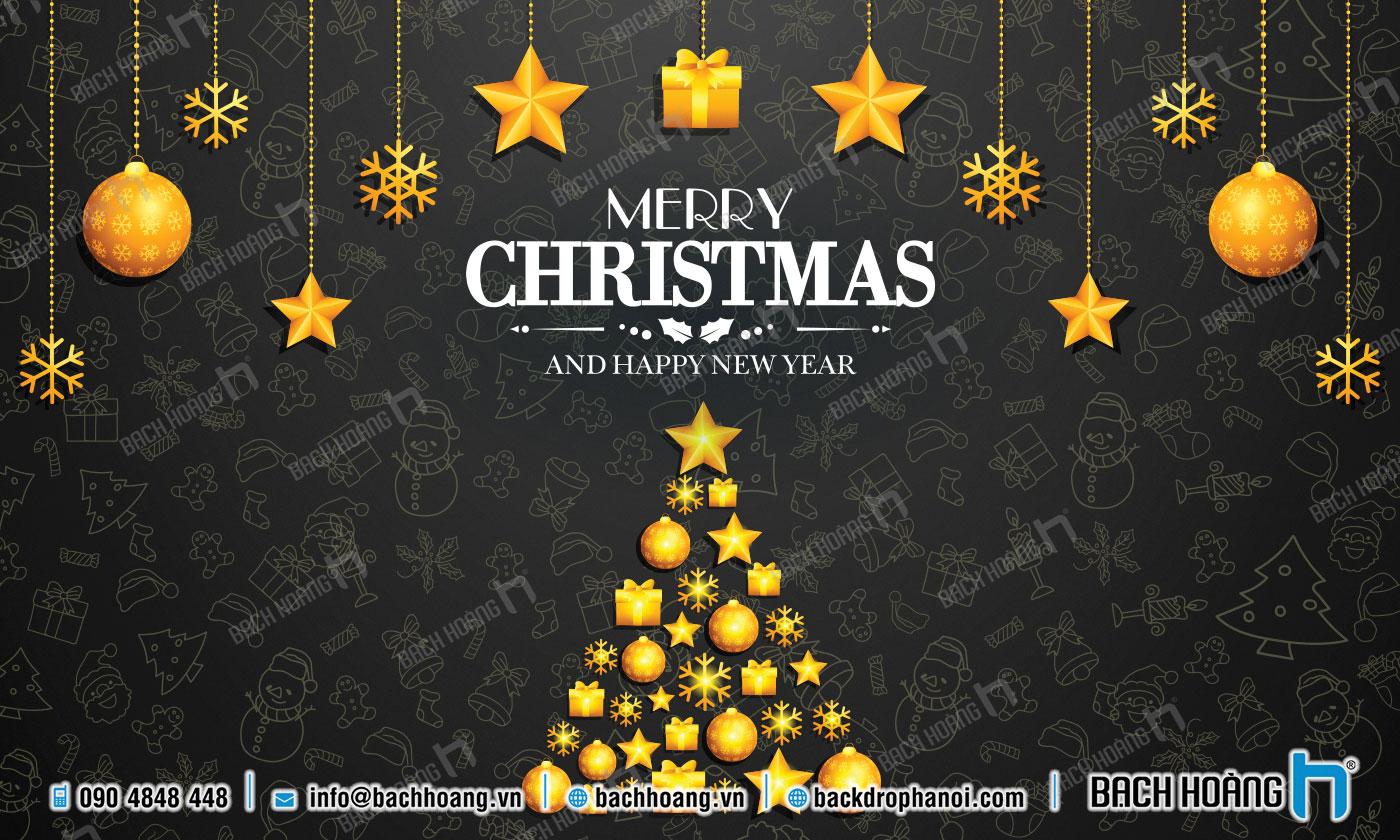 Thiết Kế Backdrop - Phông Noel Giáng Sinh Merry Christmas 92