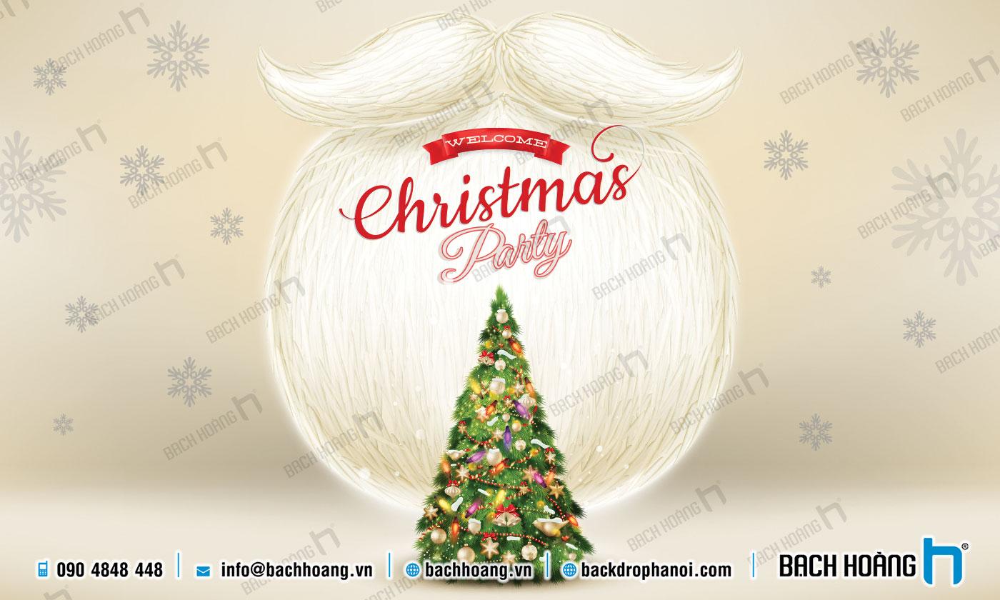 Thiết Kế Backdrop - Phông Noel Giáng Sinh Merry Christmas 93