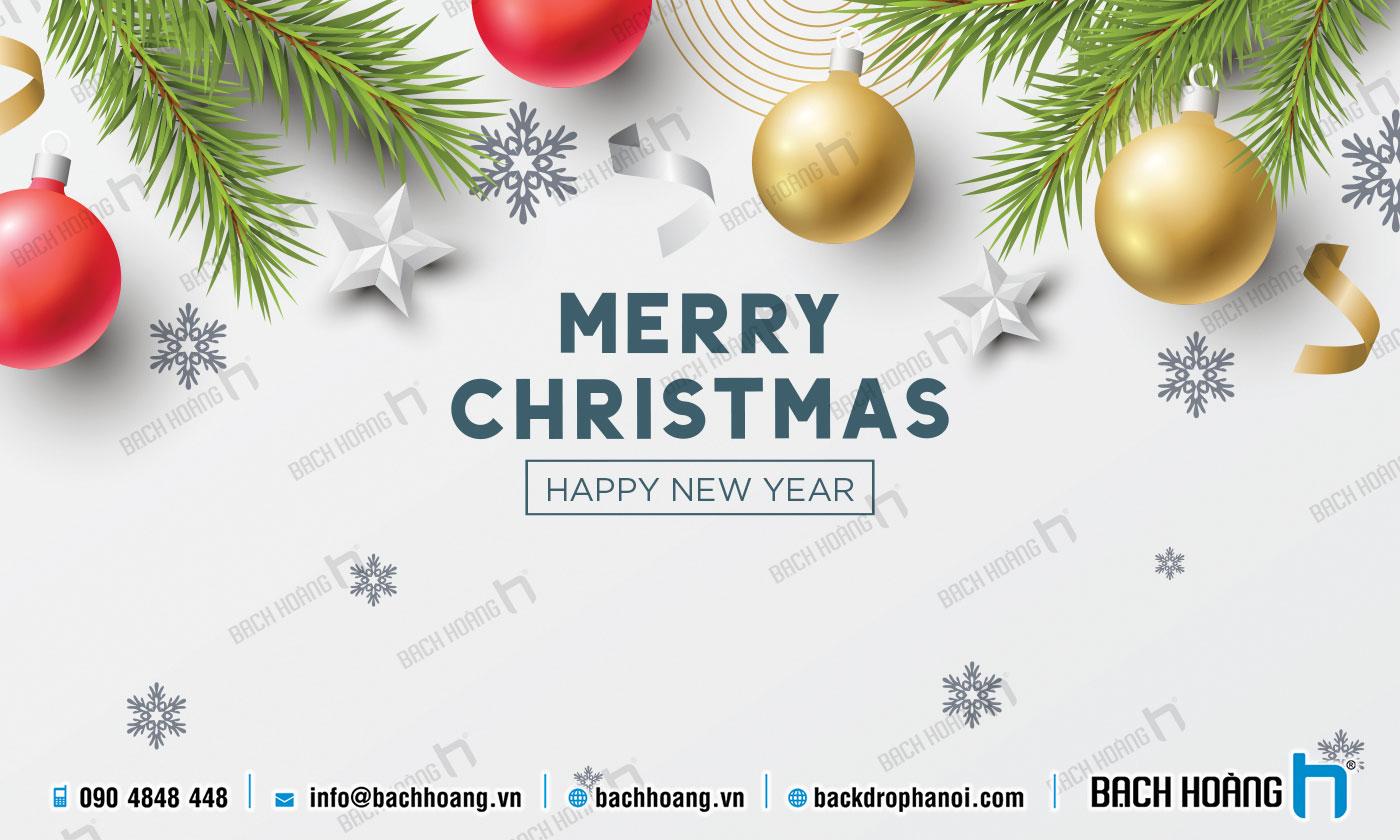 Thiết Kế Backdrop - Phông Noel Giáng Sinh Merry Christmas 94