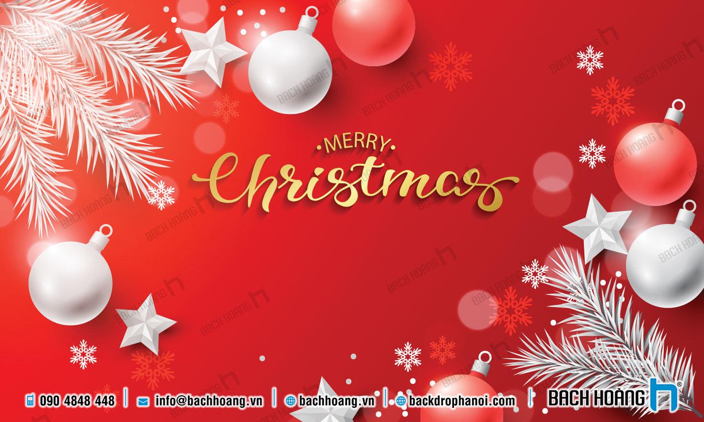 Thiết Kế Backdrop - Phông Noel Giáng Sinh Merry Christmas 95