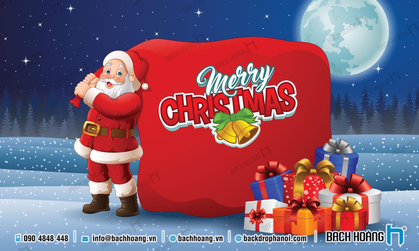 Thiết Kế Backdrop - Phông Noel Giáng Sinh Merry Christmas 96