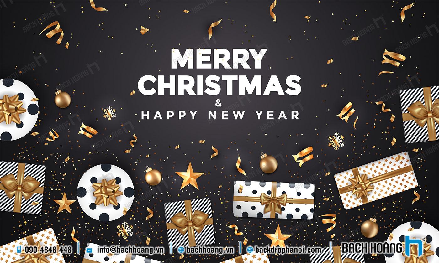 Thiết Kế Backdrop - Phông Noel Giáng Sinh Merry Christmas 97
