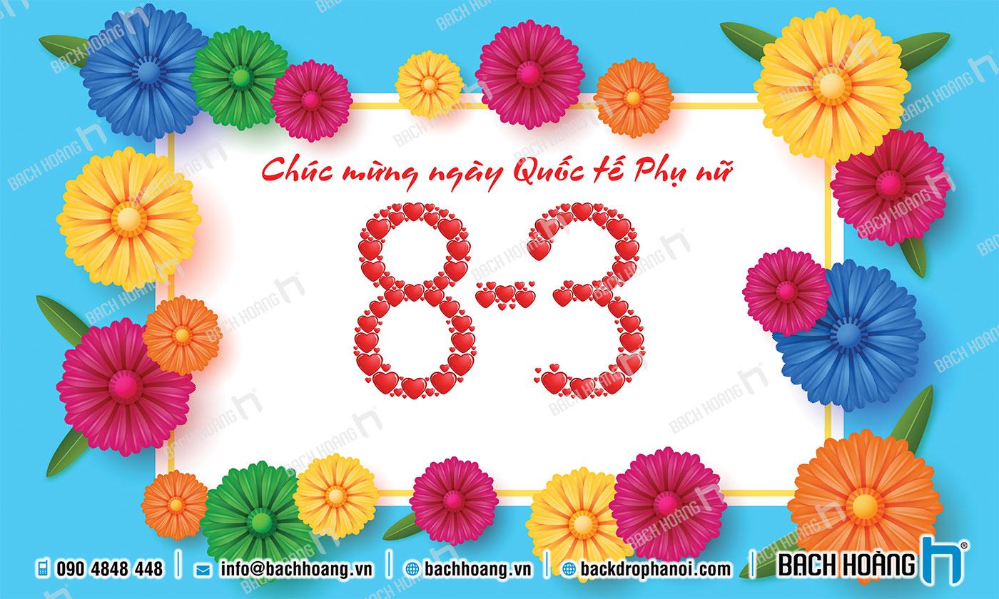 Thiết Kế Backdrop - Phông Quốc Tế Phụ Nữ 8/3 mẫu 37