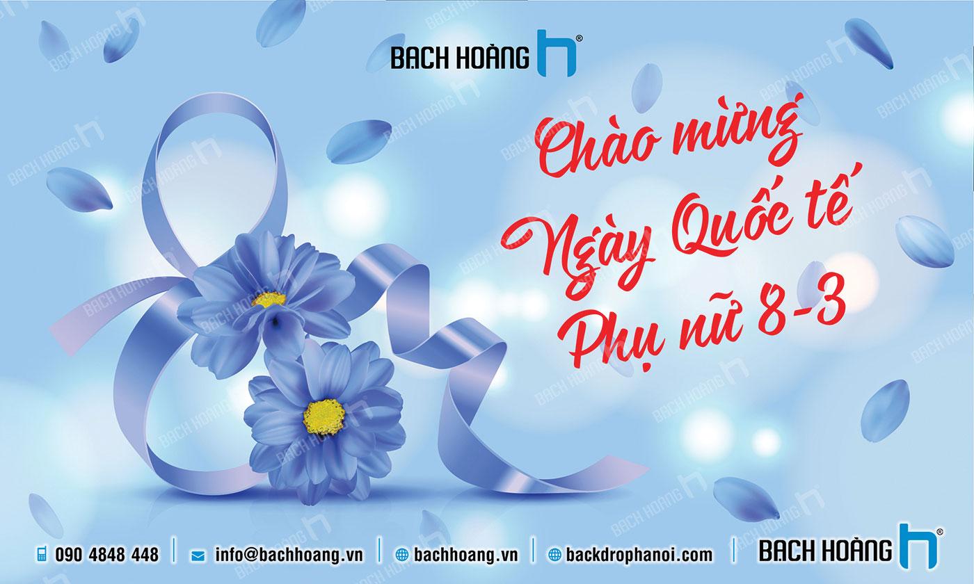Thiết Kế Backdrop - Phông Quốc Tế Phụ Nữ 8/3 mẫu 42