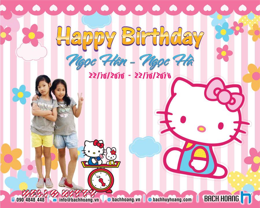 Thiết Kế Backdrop Sinh Nhật - Thiết Kế Phông Sinh Nhật Hello Kitty 03