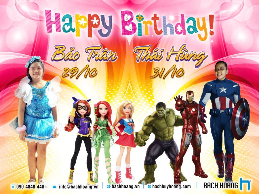 Thiết Kế Phông Sinh Nhật DC Superhero Girl - Avenger Team