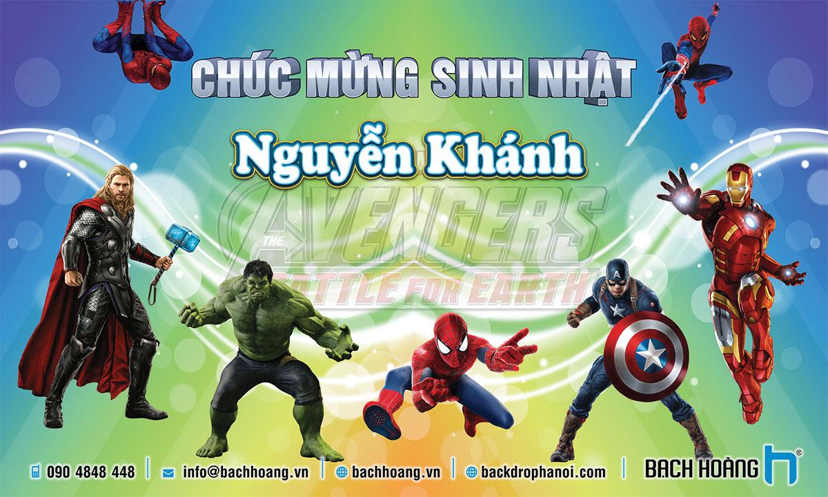 Thiết Kế Backdrop Sinh Nhật - Phông Sinh Nhật 57 Avengers