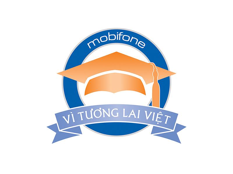 Logo Quỹ học bổng MobiFone vì tương lai Việt