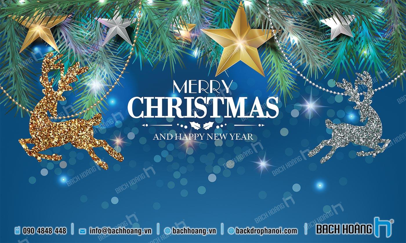 Thiết Kế Backdrop - Phông Noel Giáng Sinh Merry Christmas 03