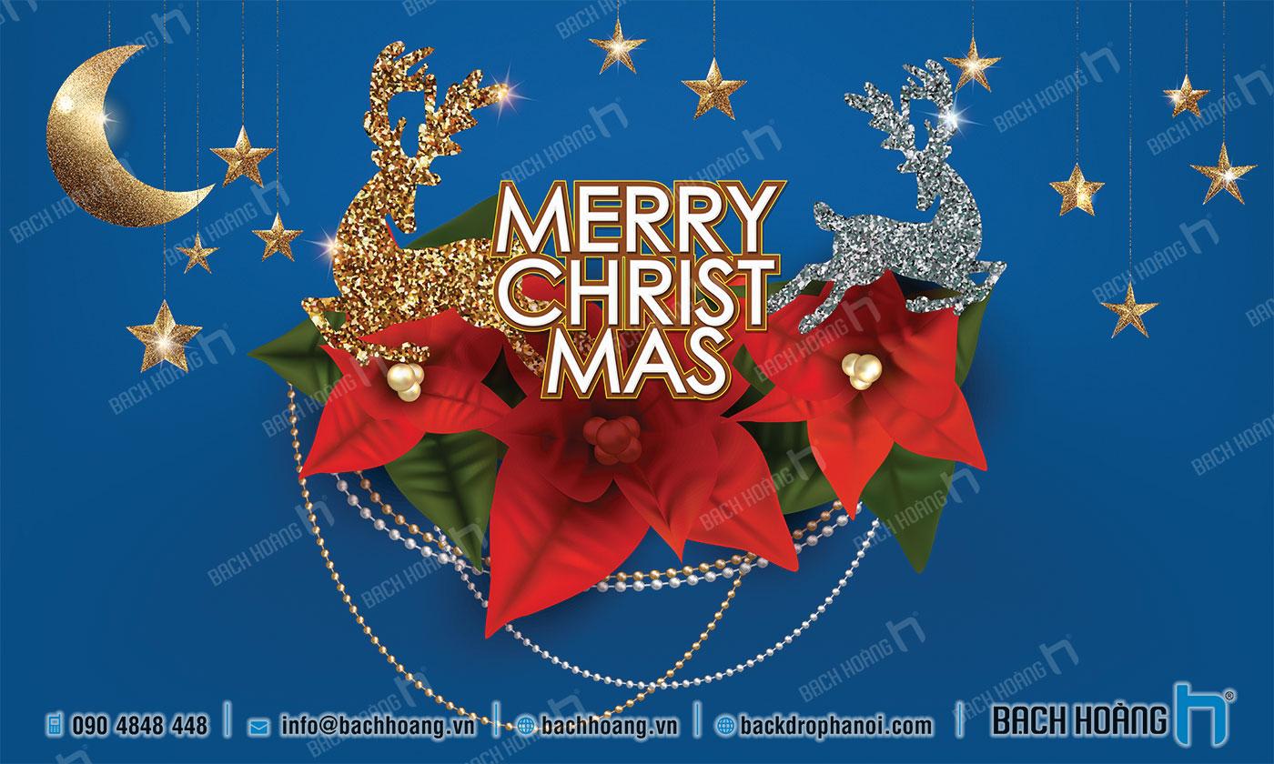 Thiết Kế Backdrop - Phông Noel Giáng Sinh Merry Christmas 04
