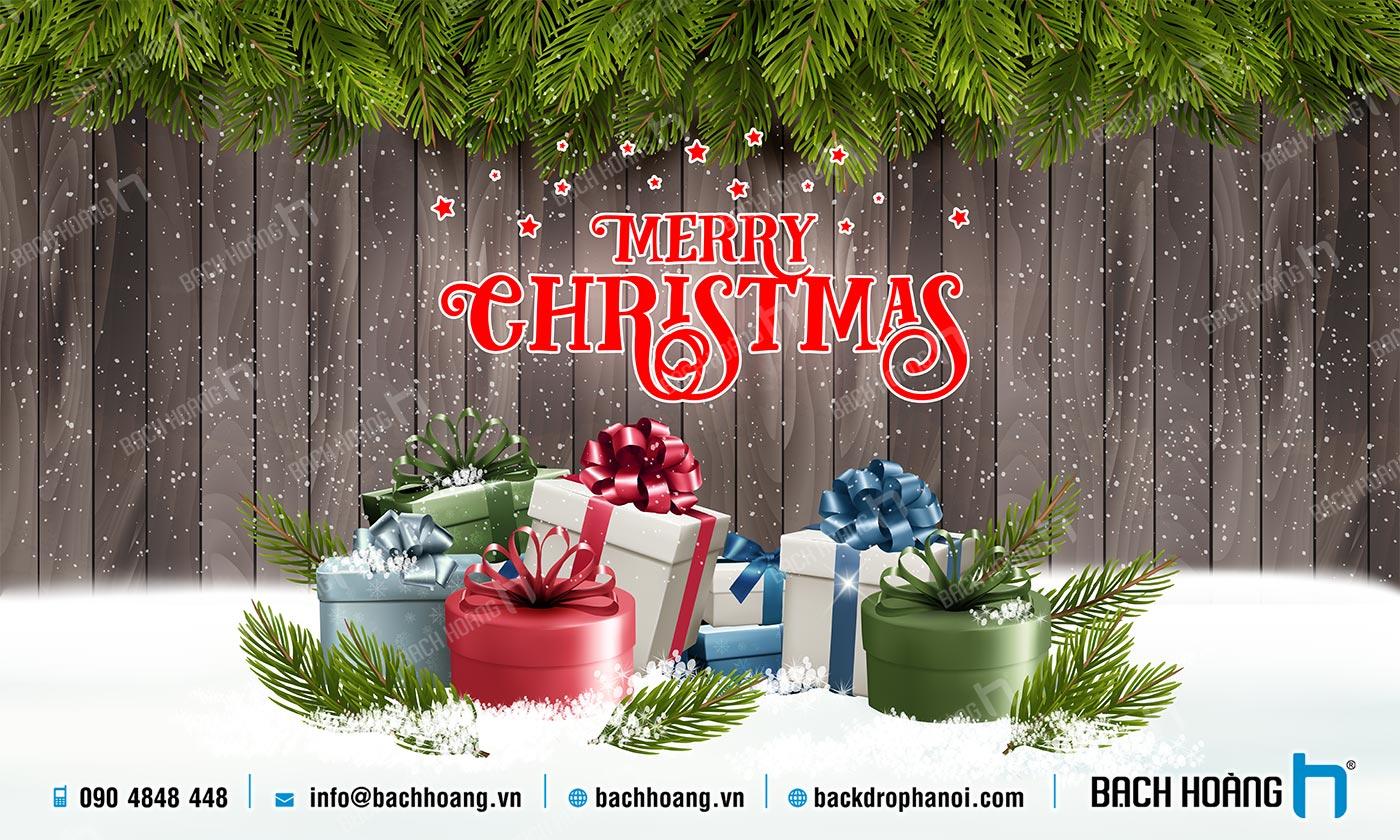 Thiết Kế Backdrop - Phông Noel Giáng Sinh Merry Christmas 06