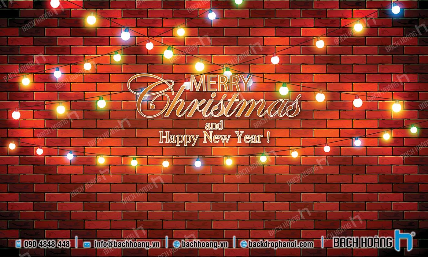Thiết Kế Backdrop - Phông Noel Giáng Sinh Merry Christmas 10