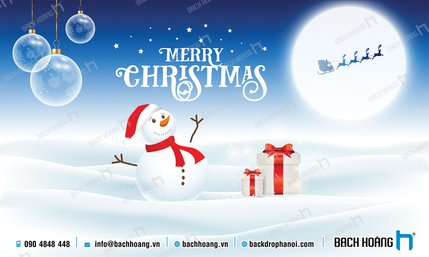 Thiết Kế Backdrop - Phông Noel Giáng Sinh Merry Christmas 11