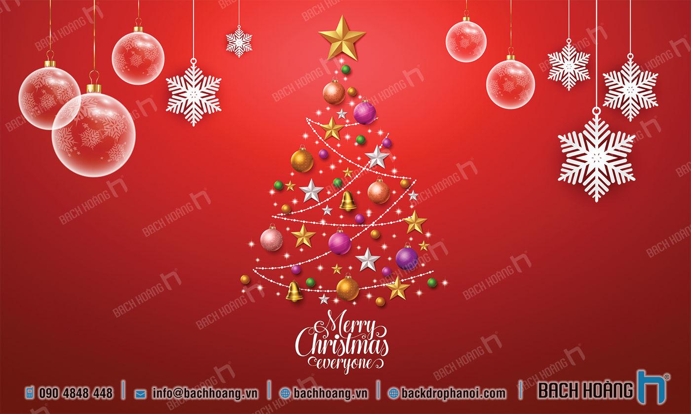 Thiết Kế Backdrop - Phông Noel Giáng Sinh Merry Christmas 12
