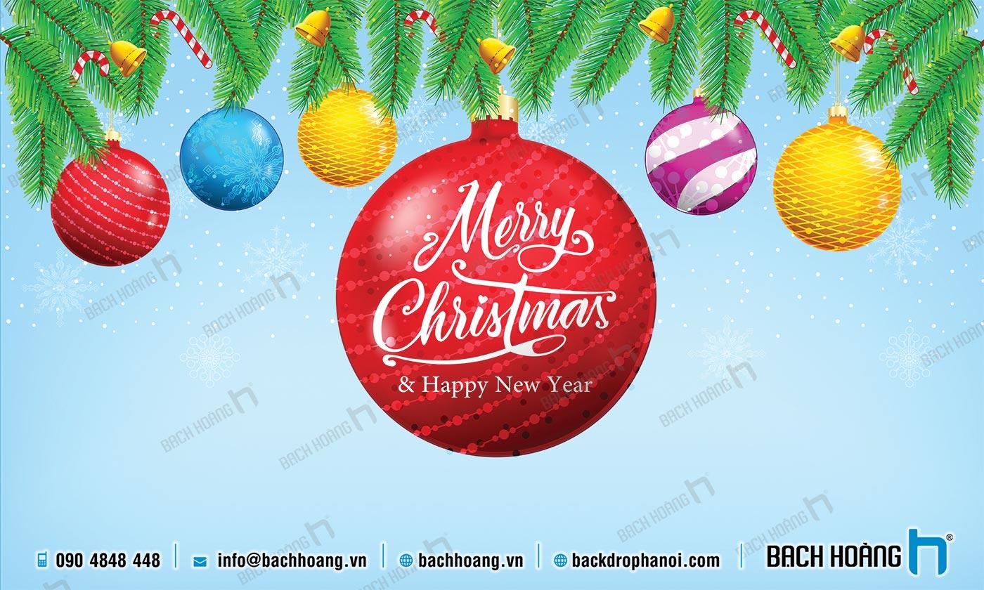 Thiết Kế Backdrop - Phông Noel Giáng Sinh Merry Christmas 13