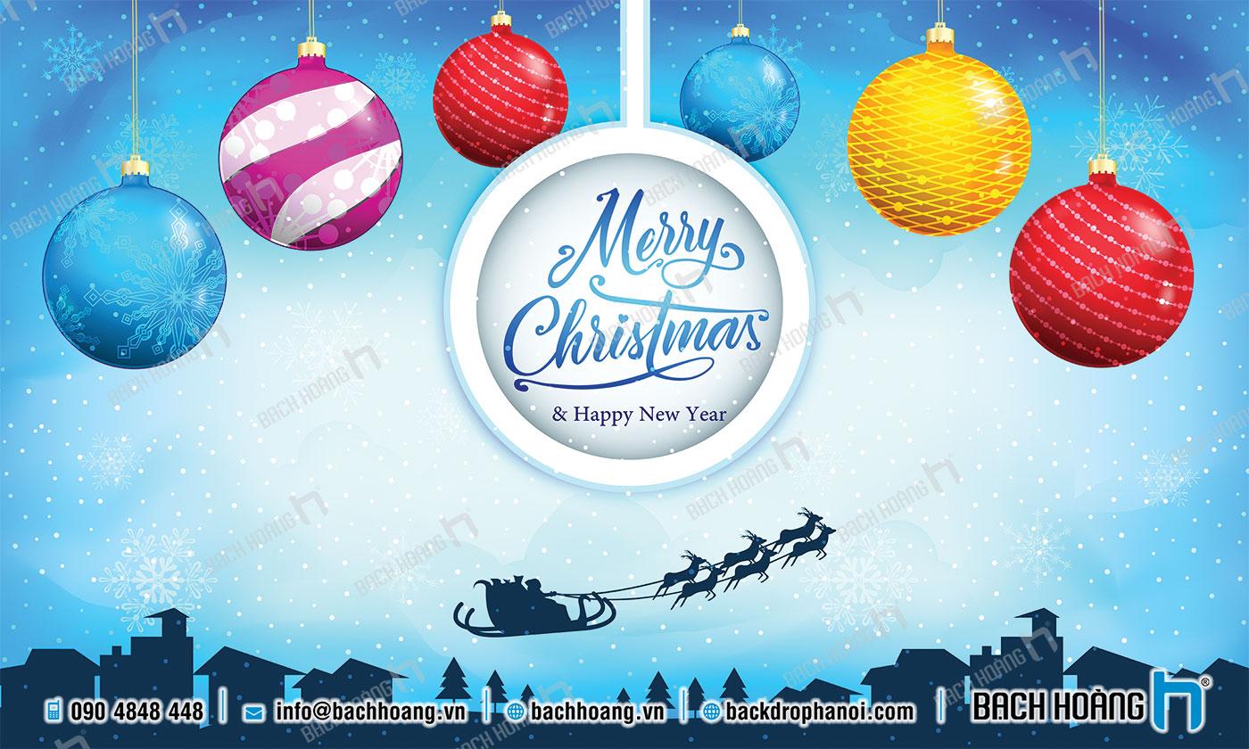 Thiết Kế Backdrop - Phông Noel Giáng Sinh Merry Christmas 14