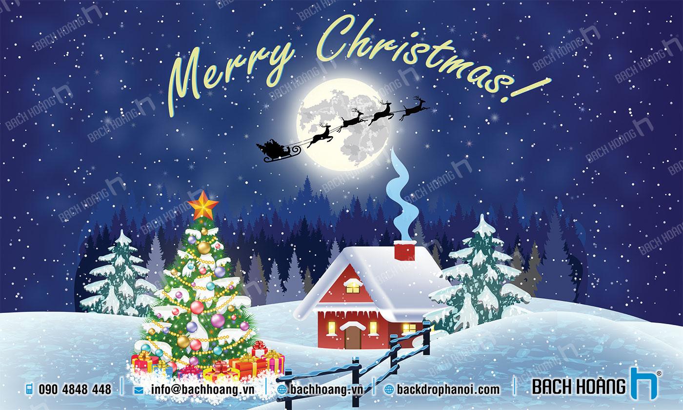 Thiết Kế Backdrop - Phông Noel Giáng Sinh Merry Christmas 15