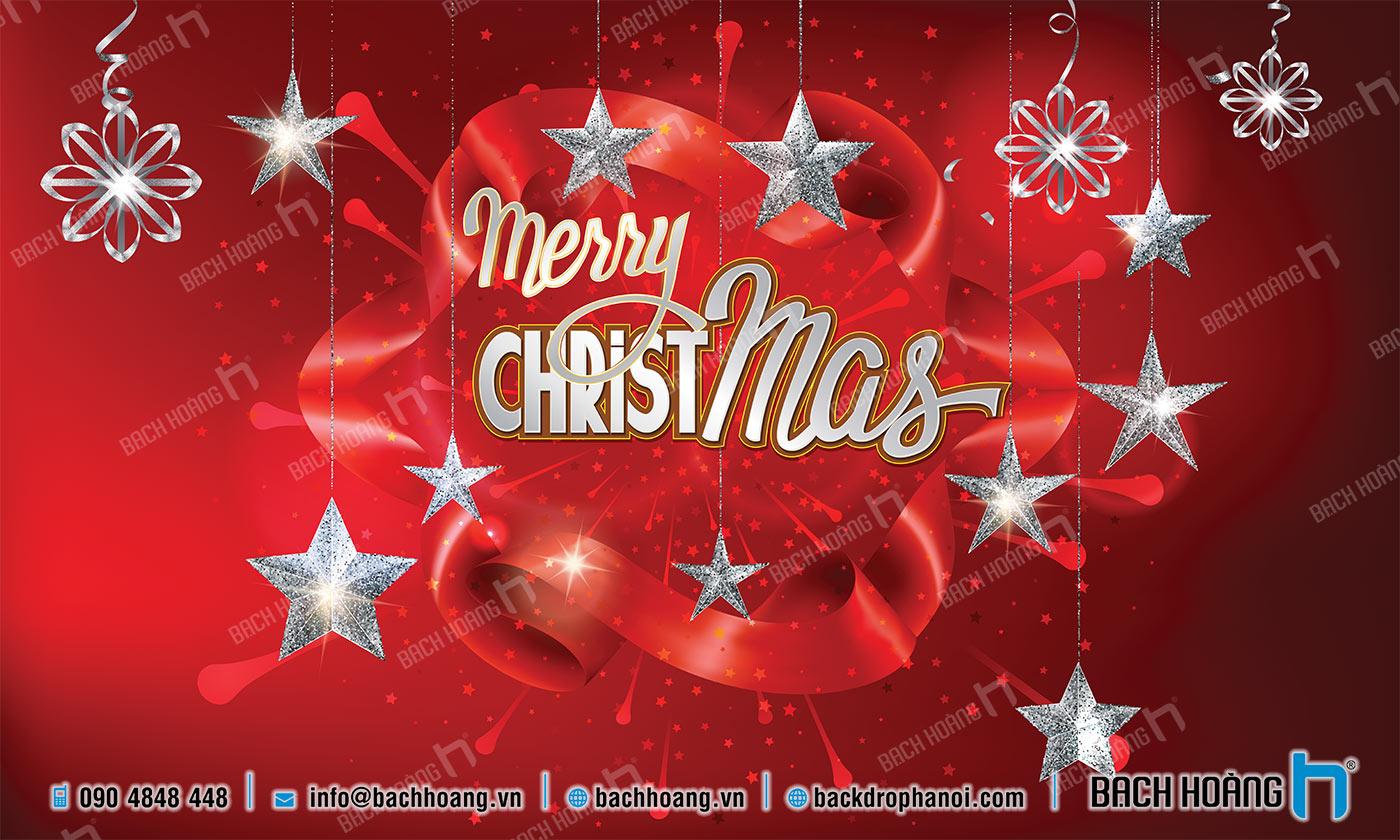 Thiết Kế Backdrop - Phông Noel Giáng Sinh Merry Christmas 17