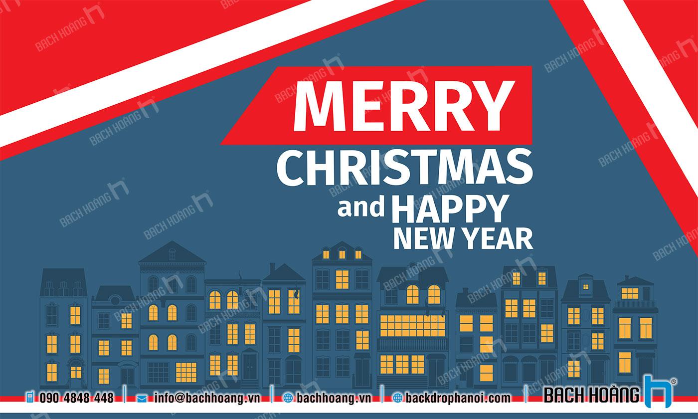 Thiết Kế Backdrop - Phông Noel Giáng Sinh Merry Christmas 18