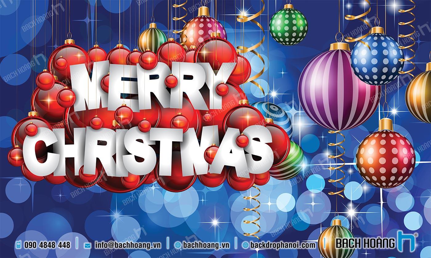 Thiết Kế Backdrop - Phông Noel Giáng Sinh Merry Christmas 19