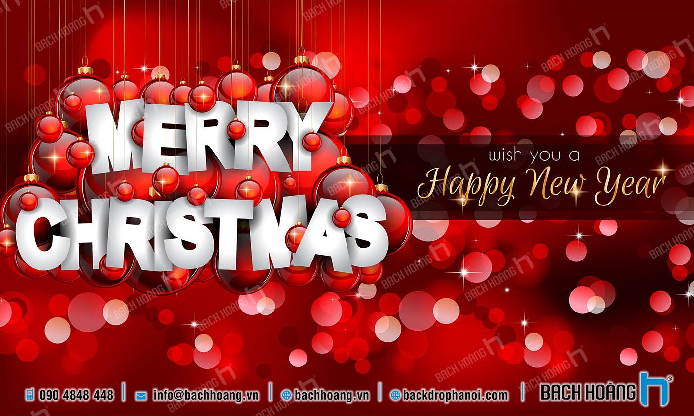 Thiết Kế Backdrop - Phông Noel Giáng Sinh Merry Christmas 20