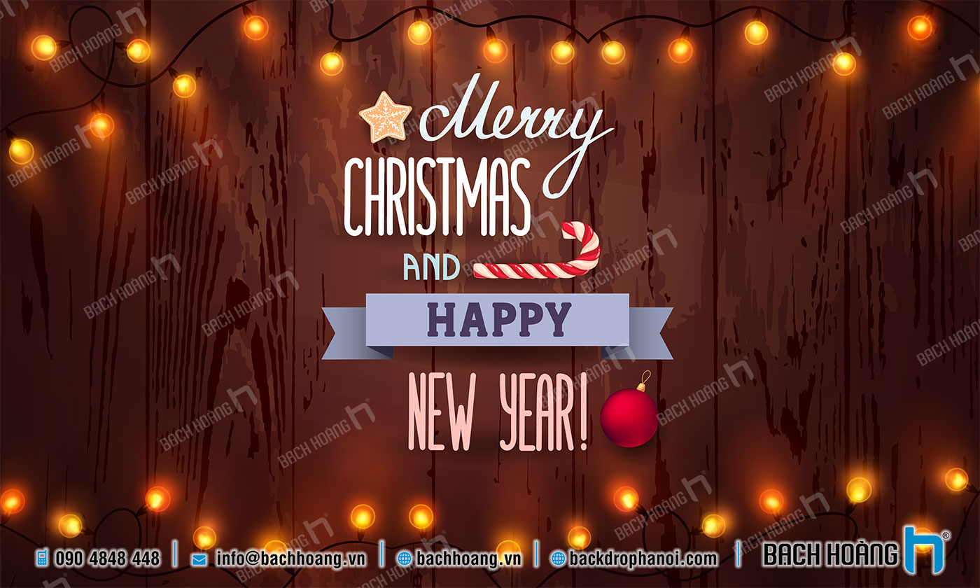 Thiết Kế Backdrop - Phông Noel Giáng Sinh Merry Christmas 21