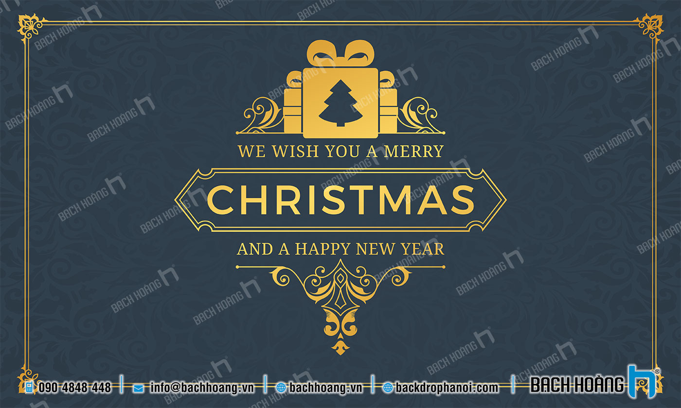 Thiết Kế Backdrop - Phông Noel Giáng Sinh Merry Christmas 24