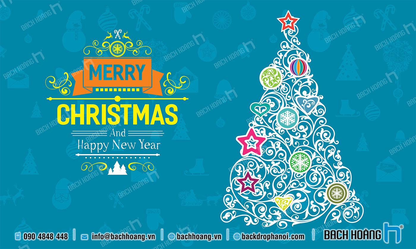 Thiết Kế Backdrop - Phông Noel Giáng Sinh Merry Christmas 25