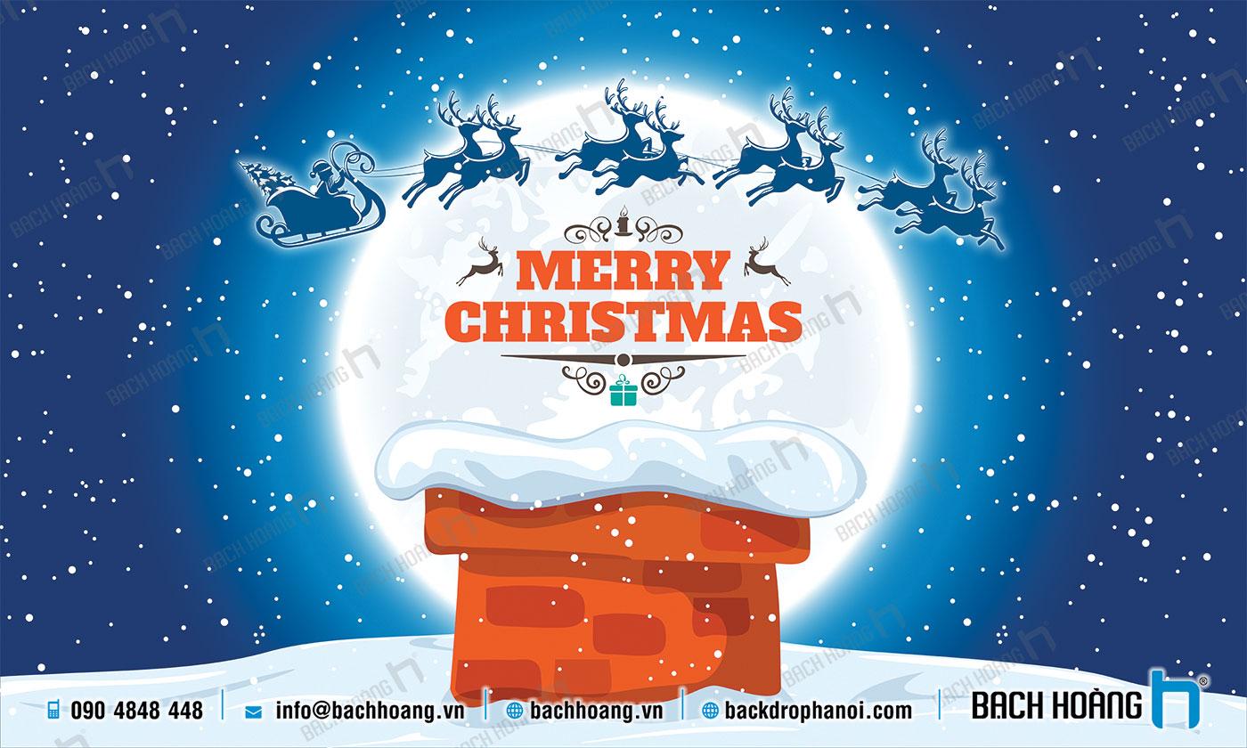 Thiết Kế Backdrop - Phông Noel Giáng Sinh Merry Christmas 26