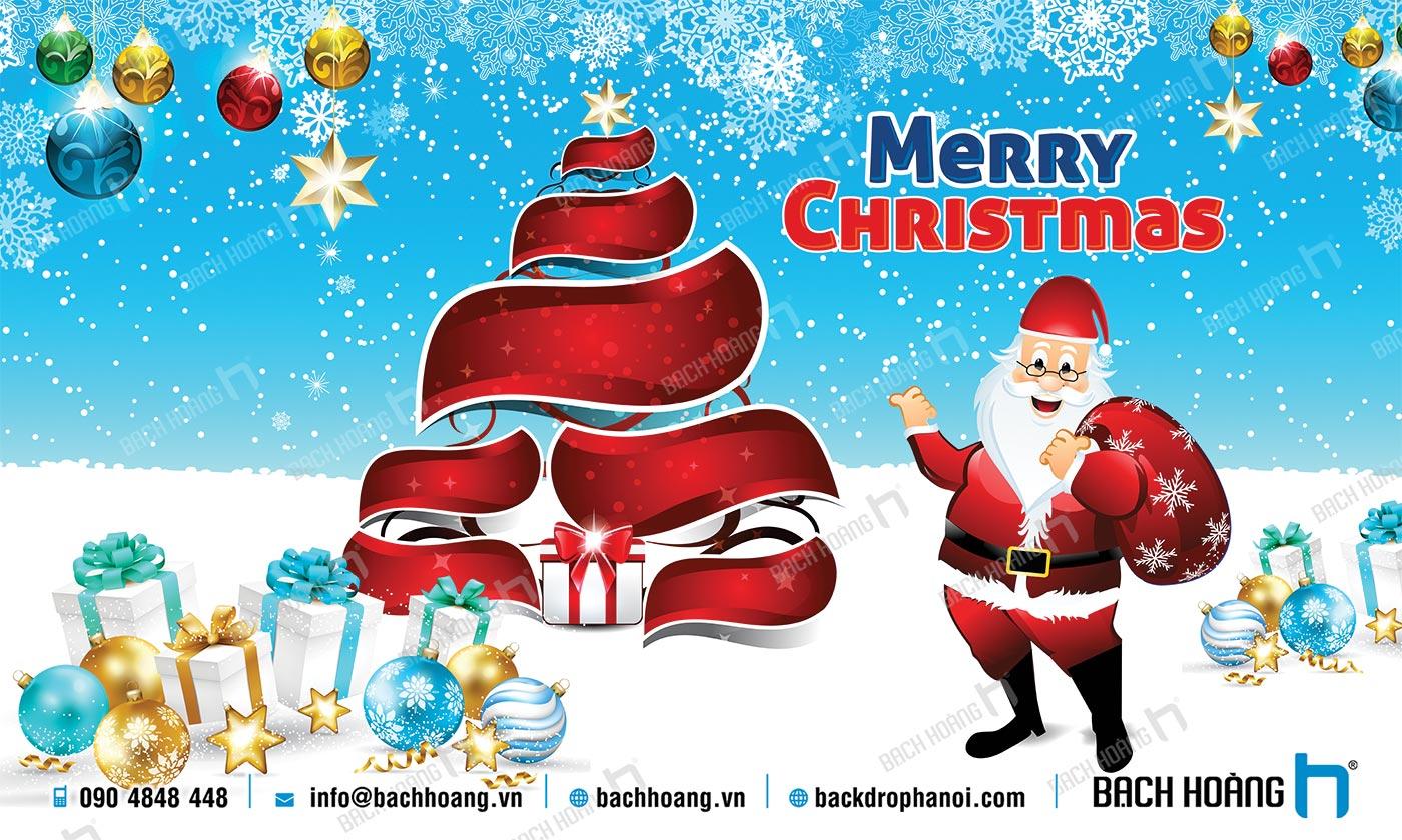 Thiết Kế Backdrop - Phông Noel Giáng Sinh Merry Christmas 27