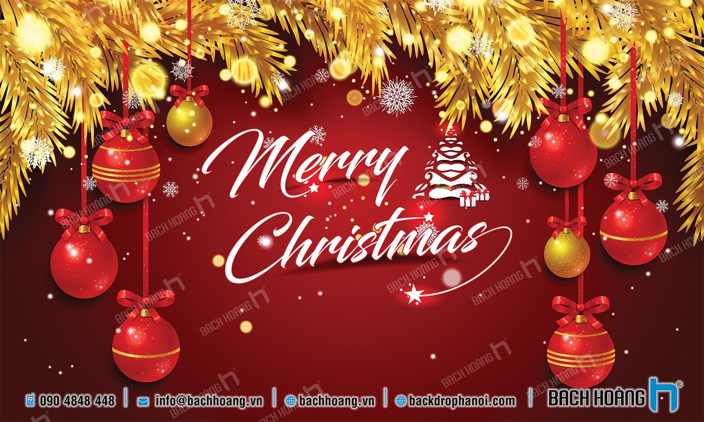 Thiết Kế Backdrop - Phông Noel Giáng Sinh Merry Christmas 28
