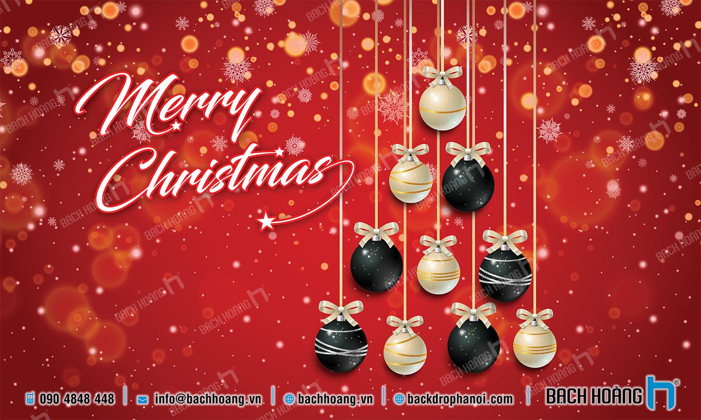 Thiết Kế Backdrop - Phông Noel Giáng Sinh Merry Christmas 29
