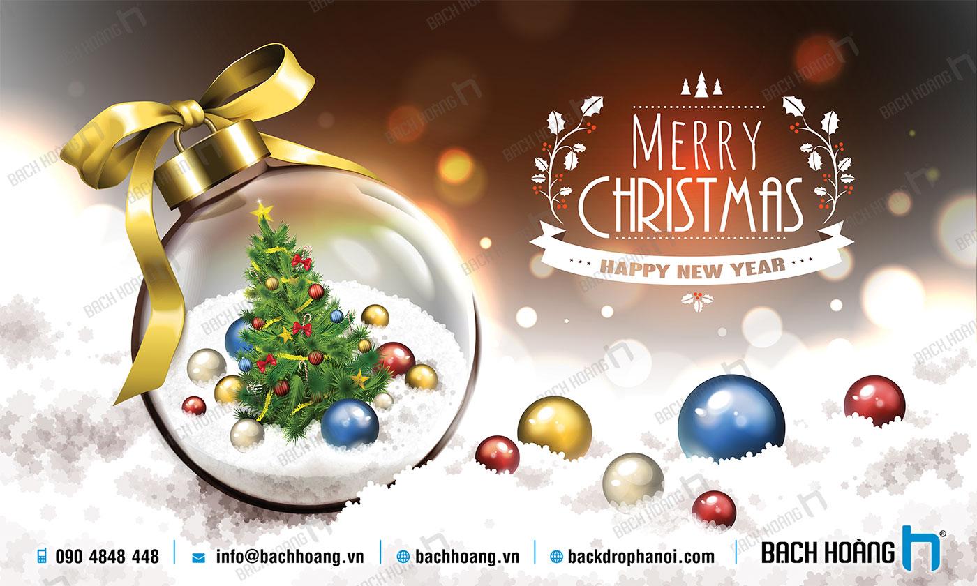 Thiết Kế Backdrop - Phông Noel Giáng Sinh Merry Christmas 30