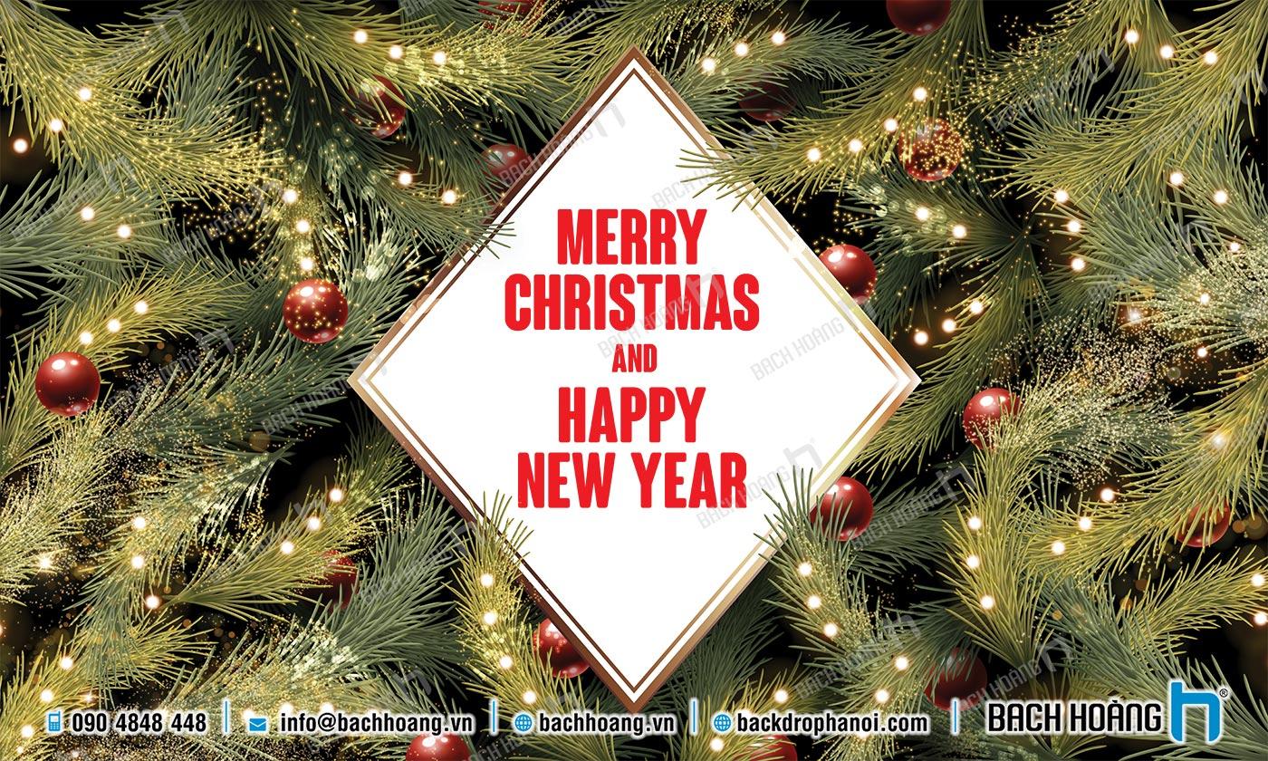 Thiết Kế Backdrop - Phông Noel Giáng Sinh Merry Christmas 31