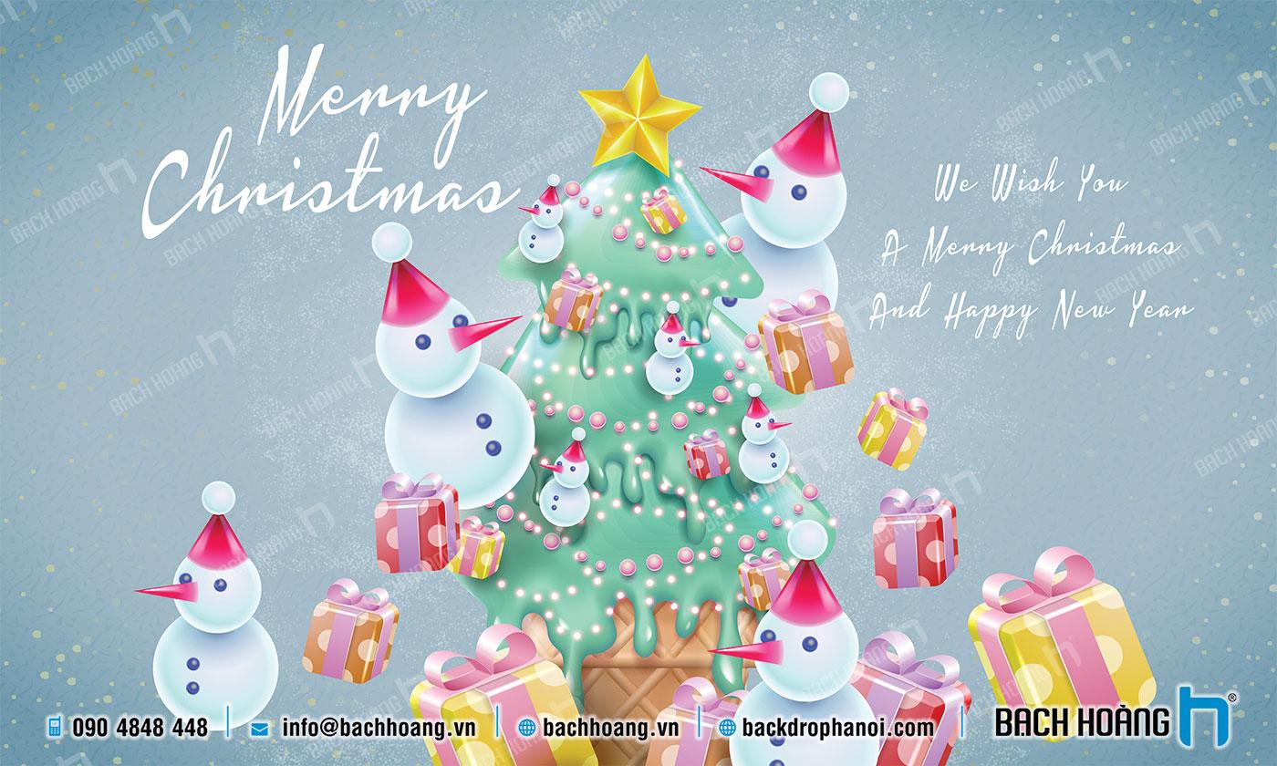 Thiết Kế Backdrop - Phông Noel Giáng Sinh Merry Christmas 32