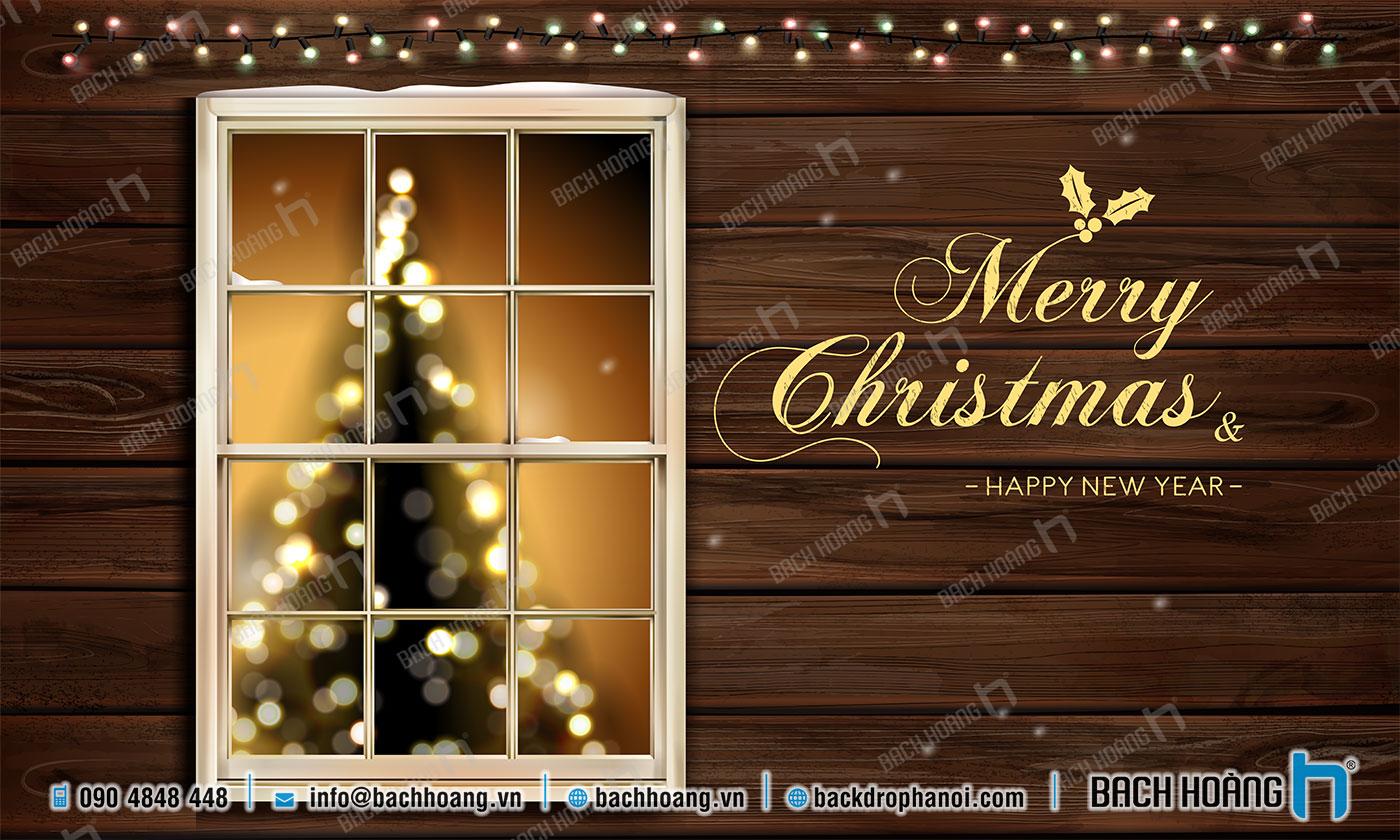 Thiết Kế Backdrop - Phông Noel Giáng Sinh Merry Christmas 33