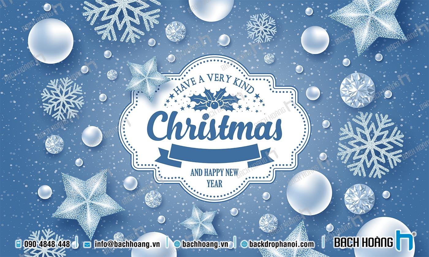 Thiết Kế Backdrop - Phông Noel Giáng Sinh Merry Christmas 34