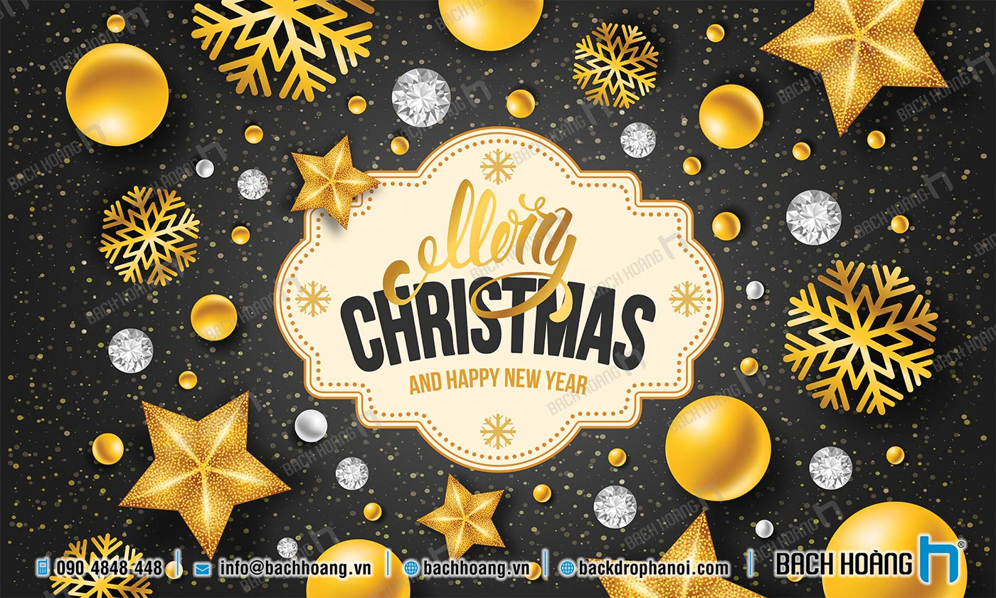 Thiết Kế Backdrop - Phông Noel Giáng Sinh Merry Christmas 36