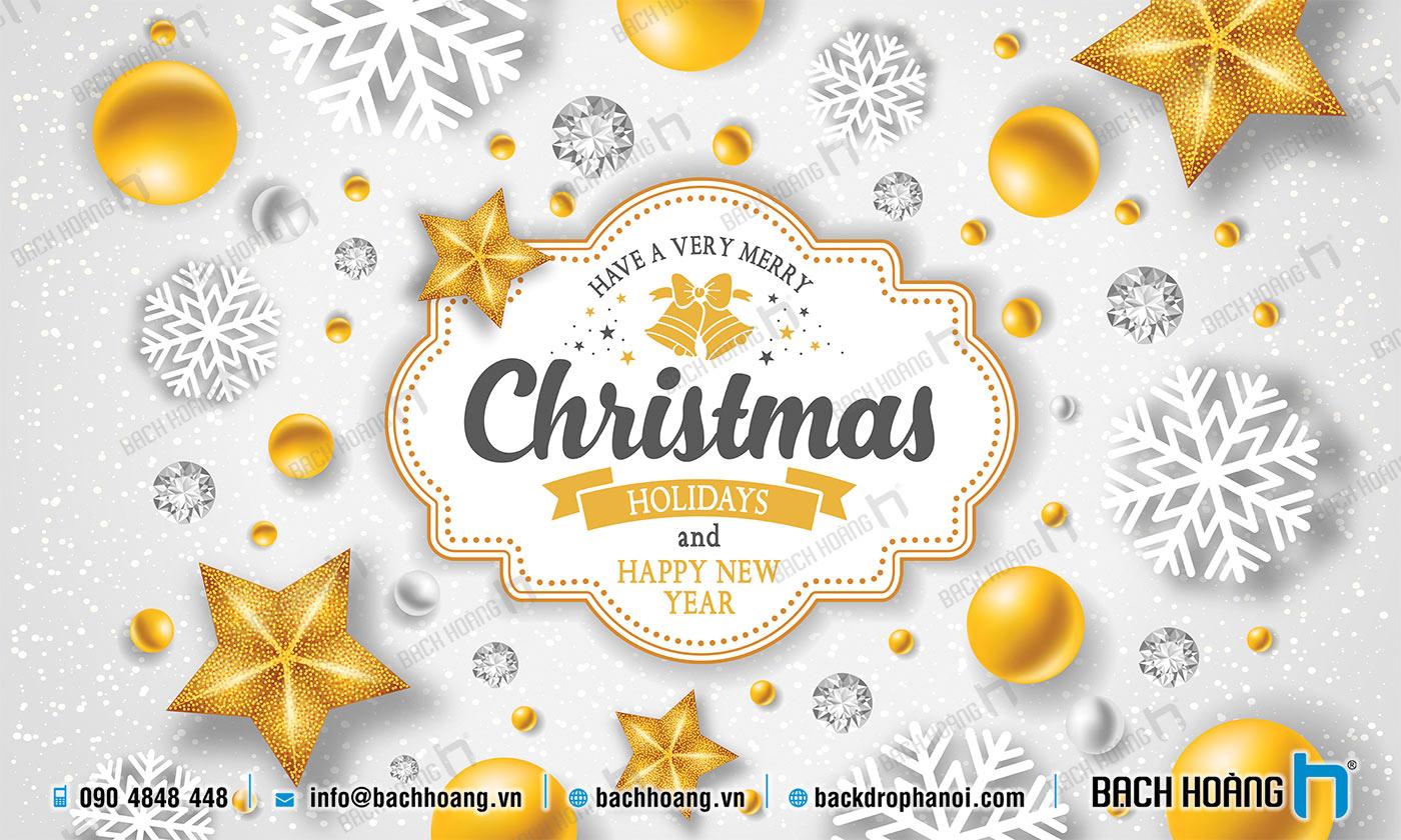 Thiết Kế Backdrop - Phông Noel Giáng Sinh Merry Christmas 37