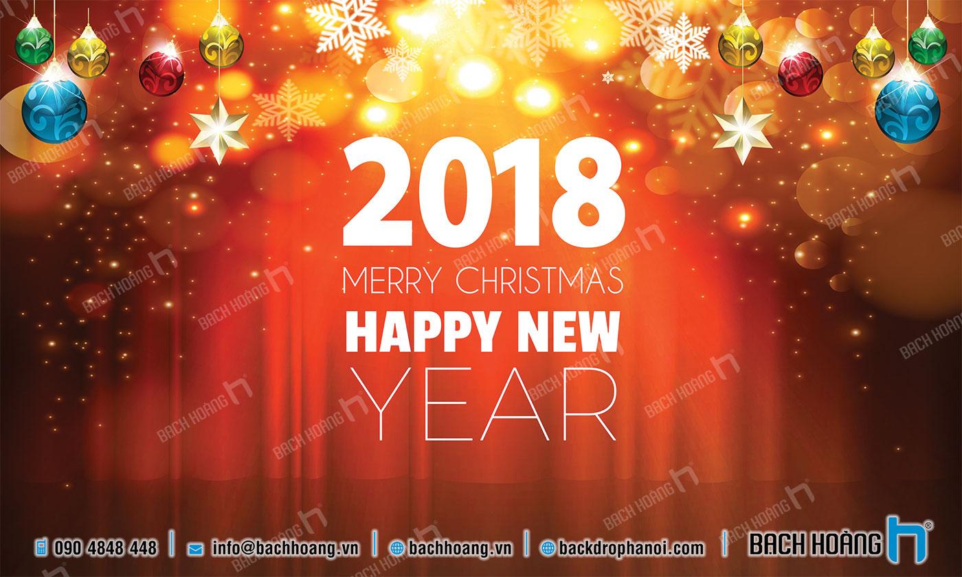 Thiết Kế Backdrop - Phông Noel Giáng Sinh Merry Christmas 38