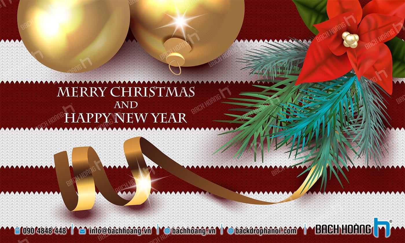 Thiết Kế Backdrop - Phông Noel Giáng Sinh Merry Christmas 40